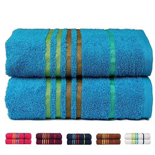 Casa Copenhagen - Set di asciugamani di cotone collezione Exotic, 475g/m² 2 Toallas de baño