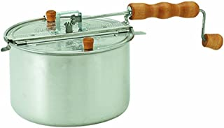 Wabash Valley Farms 24000NAMZ Stovetop Popper Whirley Popping Kit Silver-Perfect Popcorn in 3 Minutes, Regular