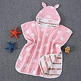 DER Mode-Neuheit 6-Schicht-Baumwollgaze Umhang mit Kapuze 6-Schicht Waschbar Tuch Kinderschal Bademantel Baby-Produkte für Badezimmer Strand (Color : 6, Size : 60 * 60)
