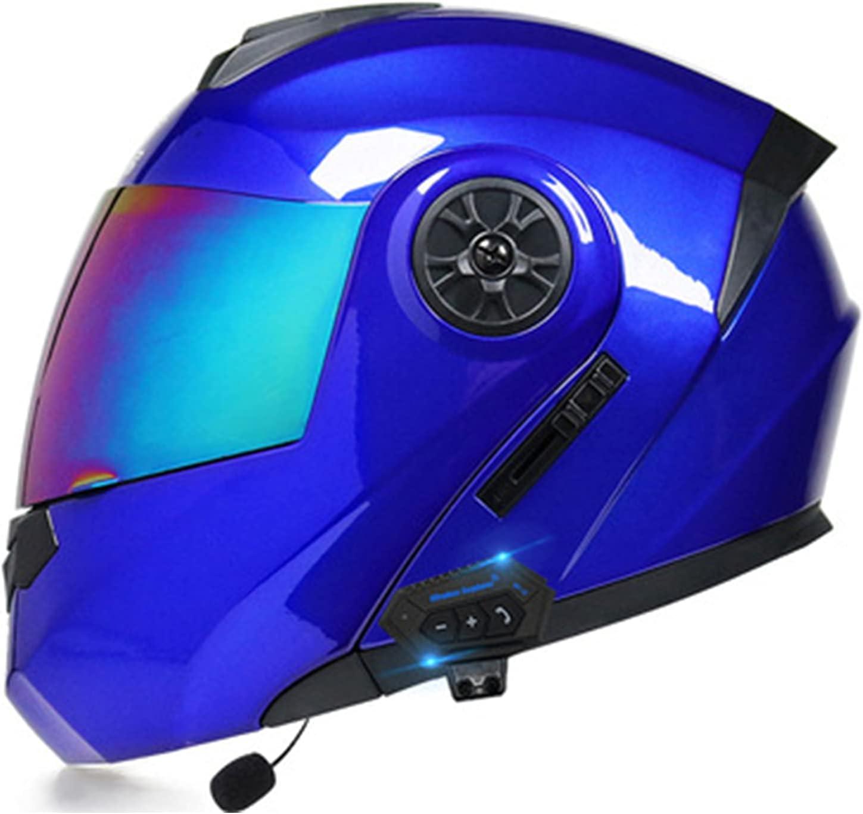Casco integral con Bluetooth Flip-Up para motocicleta, casco para adultos, hombre y mujer, casco jet, casco de moto, casco con certificación DOT/ECE