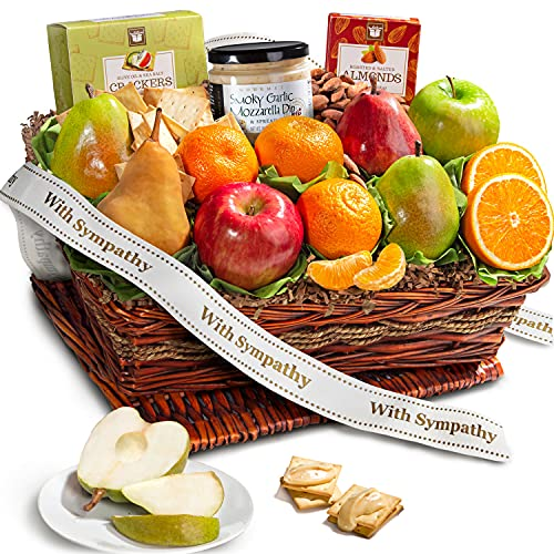 Golden State Fruit Sympathy Basket with Cheese and Nuts