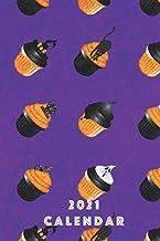 Calendario 2021: Halloween 2021 / 2022 Calendario Cute Cupcake Cookie Notebook Organizer, copertina tascabile Sweets Paper...