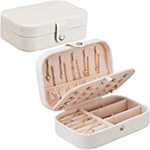 Jewellery Box Organizer, Portable Travel Jewelry Box, Small Two-Layer Jewelry Organizer, Synthetic Leather Jewelry Storage...