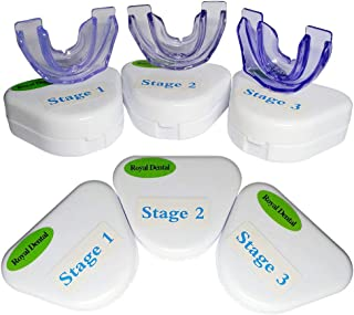 RoyalDental Orthodontic Retainer Teeth Trainer Oral Braces Dental Appliance Mouthpieces Whitening (3 pieces/set)