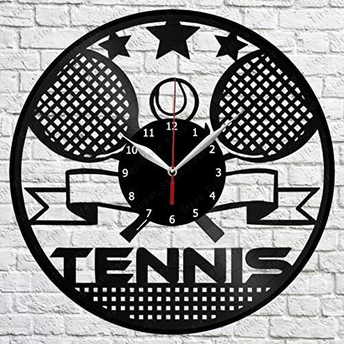 CHENWN Tennis Vinyl Schallplatte Wanduhr Art Decor Original Geschenk