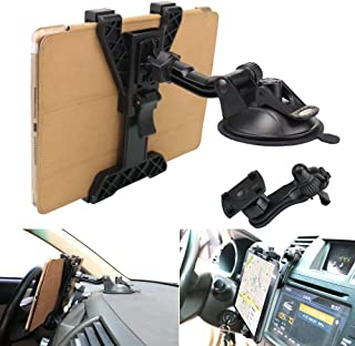 Tablet Holder Car Air Vent Mount,OHLPRO Universal Dashboard Windshield 2-in-1 Cradle TPU Suction Sticky Gel for iPad/iPad Mini Samsung Galaxy Size 6
