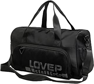 Sports Gym Bag, Travel Duffel Bag with Wet Pocket & Shoes Compartment Waterproof Overnight Bag Weekender Duffel Bag for Men Women