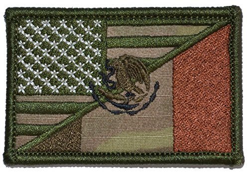Mexican/USA Flag Patch 2x3 (Multicam)