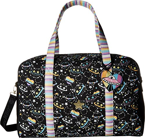 Luv Betsey Cruzin Cotton Weekender w/A Luggage Pass Through On The Back Black/Multi One Size