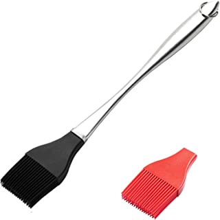 """NW 1776 Basting Brush - 12"""" Stainless Steel Pastry Brush with Lengthened Silicone Brush Head for Kitchen Cooking Baking Gr..."""
