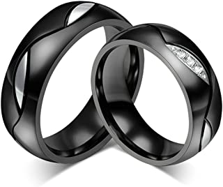 Stainless Steel Ring, His and Hers Matchiing Couple Wedding Engagement Ring Set(Price for 1Pc)