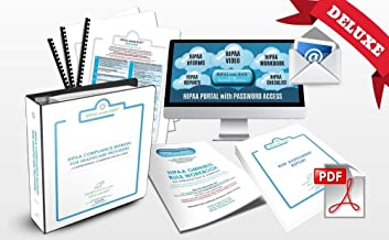 2019 HIPAA COMPLETE DELUXE COMPLIANCE PKG By HIPAA Made EASY includes HIPAA Compliance Manual, Training Video, eForms to Omnibus Rule Hi Tech Standards& Risk Assessment Report Template