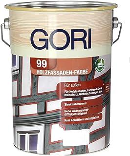 GORI 99 Holz- und Fassadenfarbe 8555 Polar weiss, 0,75 Liter