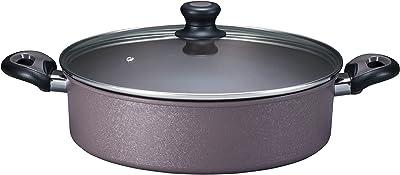 ベストコ IH 浅型鍋 シャローパン ダイヤモンドコート 30cm ND-8304 アリエッタネクスト アイスフラワーブラウン
