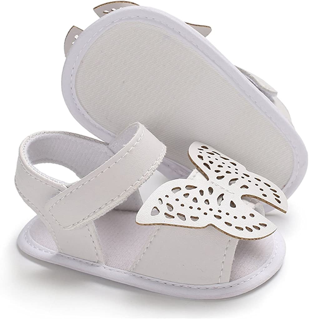 lakiolins Baby Girls Hollow Butterfly Sandals Open Toes Anti-Slip Beach Walking Shoes