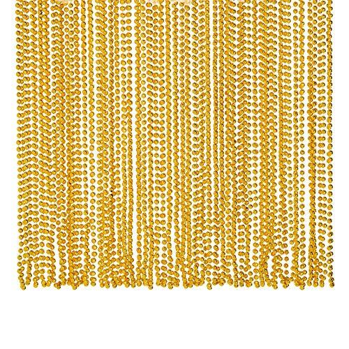 Gold Metallic Beads Necklace (4DZ) - Jewelry - 48 Pieces