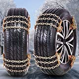 BESTWELL4U 2021 Upgraded Snow Chains,Tire Chains for Car,Truck,SUV of Tire Width 225-285 mm (8.5-11.2 inch),Upgraded,Thickend,Adjustable (6 Pack)