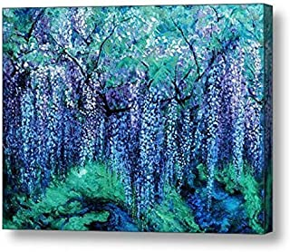"""The Wind Whispers Wisteria, Ocean - 15""""H x 20""""W Canvas Print"""