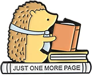 HittecH Hedgehog Brooch Read Books Cute Funny Fashion Badge Denim Jacket Bag Backpack Student Pins Lapel Enamel Pin Jewelry Creative Cartoon Corsage Girls Gift