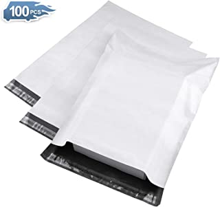 Metronic 100pack 7.5x10.5 White Poly Mailer Envelopes Shipping Bags with Self Adhesive, Waterproof and Tear-Proof Postal Bags