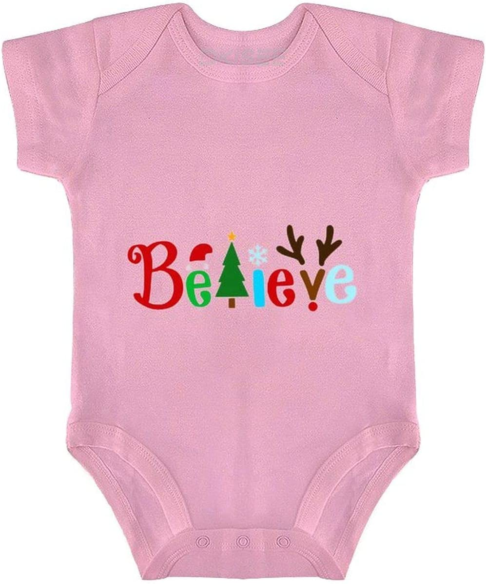 excellence DKISEE Recommended Believe Christmas Pink Baby Bodysuit Rompe Onesies Infant