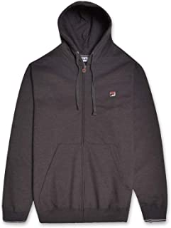 Fila Men's Big and Tall Full Zip Cotton Fleece Hoodie Sweatshirt Logo and Kangaroo Pockets