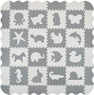 VeloVendo® Alfombra Puzzle Infantiles 40% más Gruesa Que la Alfombra de Rompecabezas Normal con Certificado CE | Suelo de Espuma EVA | Tapete de Juego | Alfombra Suave para Bebé (Animales)