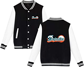 Miami Dolphins Varsity Jacket Baseball Jacket Women's Bomber Coat Men's