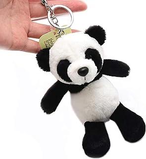 Ruzucoda Plush Panda Keychain Stuffed Animal Ornaments Pendant for Backpacks
