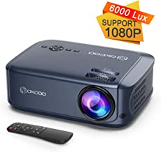"OKCOO Video Projector, 6000lux 200"" Display Home Theater Business Office Overhead.."