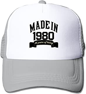 Made In 1980 36 Years Of Being 36th Birthday Adjustable Snapback Mesh Hat Unisex