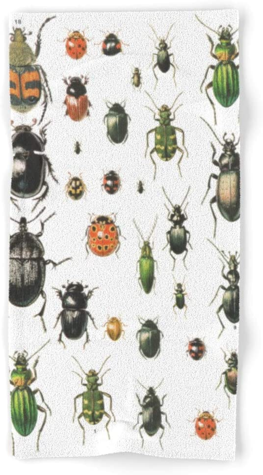 NEW Society6 Bugs by Crwde on Hand and 4 of Set Bath - Miami Mall 2 Towels