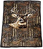 60' x 80' Blanket Comfort Warmth Soft Cozy Air Conditioning Easy Care Machine Wash Deer Camo