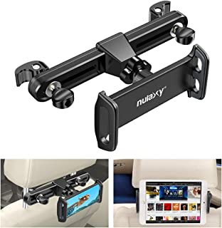 Nulaxy Headrest Tablet Mount, Upgraded Tight Screw Lock Car Headrest Holder Mount Compatible with Smartphones/Tablets/Switch 4.7