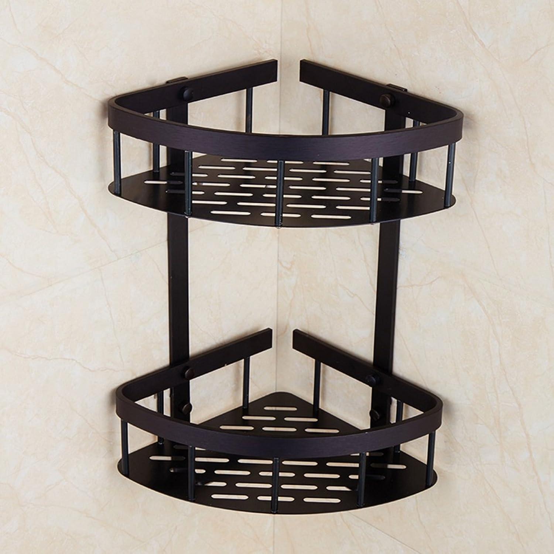 Angle Bracket Bathroom Retro Double Layer Triangular Basket Toilet Shelving Hardware Pendant Accessories ( Size   B )