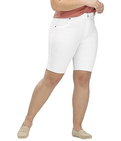 HUE Plus Size Ultra Soft Denim High-Rise Bermuda Shorts