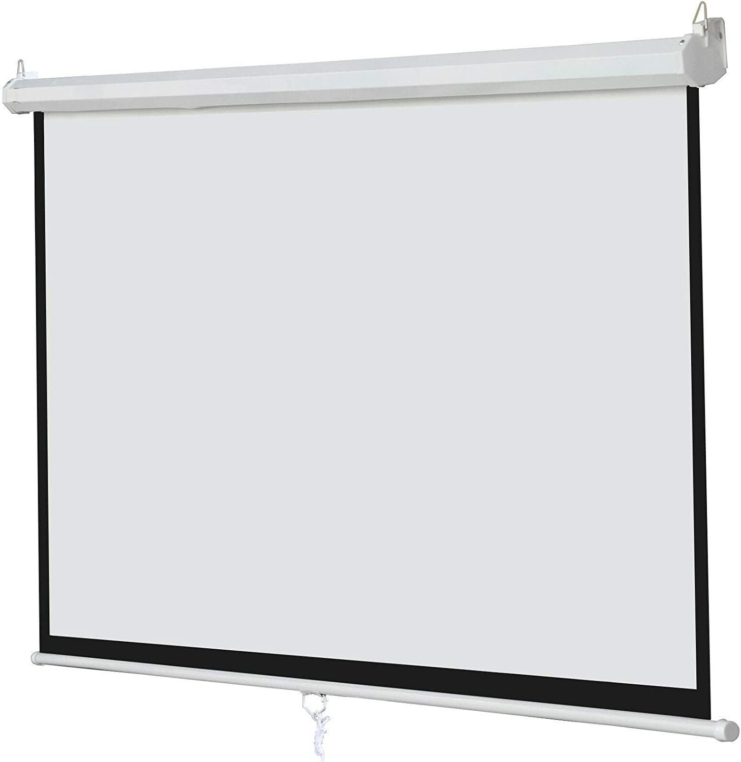 100 Inch 16:9 Manual Pull Down Projector Projection Screen Home Theater Movie
