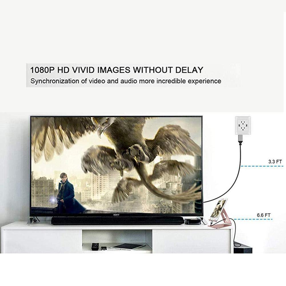 iBâste Cable Adaptador HDMI Full HD 1080p para iPhone/iPad: Amazon.es: Electrónica