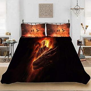 Juego de ropa de cama SSIN-Game of Thrones, juego de ropa de cama, microfibra, impresión digital 3D, juego de tres piezas de Tronos, 07, 220 x 240 cm