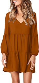 Women Summer Tunic Dress V Neck Casual Loose Flowy Swing...