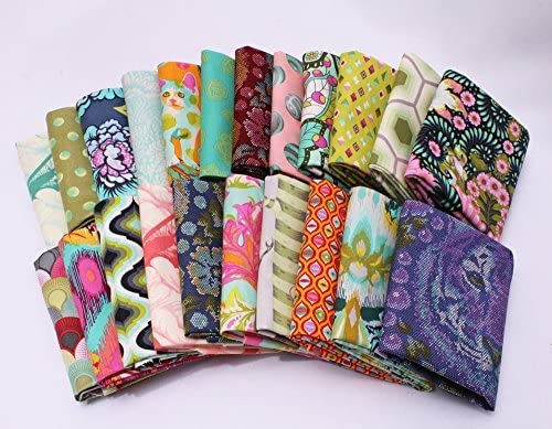 10 Fat Online limited product Quarters - Tula Pink Spirit Floral Flowers It is very popular Free Assorted