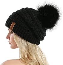 knit hats with pom pom