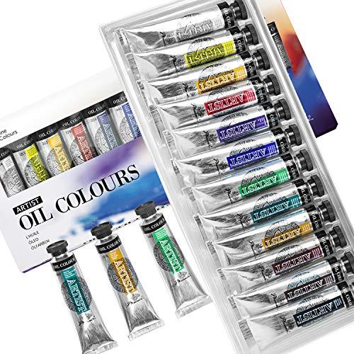 PHOENIX Artist Grade Oil Paint Set 12 Tubes x 40ml (1.35 Oz.) - Oil Painting Colors for Professionals Artists