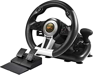 PXN V3II PC Racing Wheel, YF2009 USB Car Race Gaming Steering Wheel with Pedals for Windows PC/PS3/PS4/Xbox One/Nintendo Switch