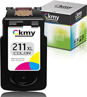 CKMY Remanufactured 211XL Ink Cartridge Replacement for Canon 211 CL-211XL Used for Pixma MP495 MX410 MX340 MP250 MX320 MP...