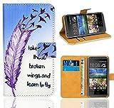 HTC Desire 620 Handy Tasche, FoneExpert® Wallet Hülle Flip Cover Hüllen Etui Ledertasche Lederhülle Premium Schutzhülle für HTC Desire 620 (Pattern 7)
