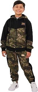 Kids Boys Girls Designer's A2Z Camouflage Contrast Tracksuit Hooded Jogging Suit