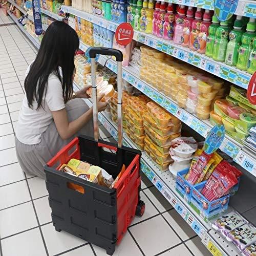 YPZHEN für Portable Home Shopping Falten Alter Mann Einkaufen Supermarkt Trolley (rot) verstauen (Farbe : Red)