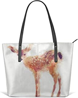 Fawn Leather Tote Large Purse Shoulder Bag Portable Storage HandBags Convenient Shoppers Tote