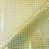 Champagne Gold Pailletten in Hologramm quadratisch American